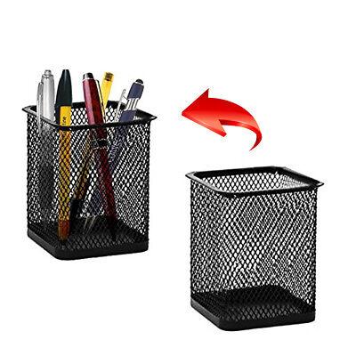 Desk Desktop Pen Ruler Scissor Pencil Holder Cup Mesh Organizer Container Box