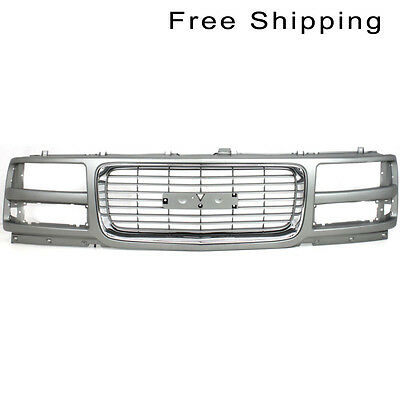 Ptd Gray Grille W/ Chrome Insert Molding Fits Savana 1500 2500 3500 GM1200528