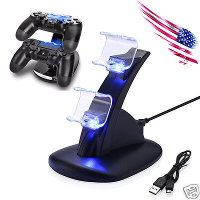 Купить For PlayStation PS4 Dual Controller Charger Dock Station USB Fast Charging Stand