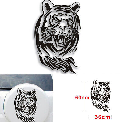 60CM x 36 CM Creative Personality Tiger Car Hood Spare Decals Stickers Black for sale  China