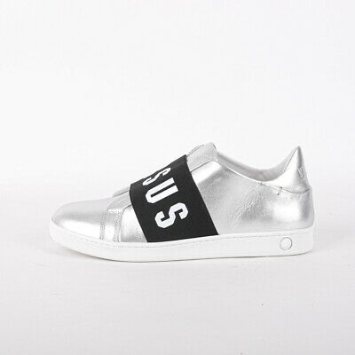 Mens Versus Versace Strap Silver/White Trainers (PF1) RRP £259.99