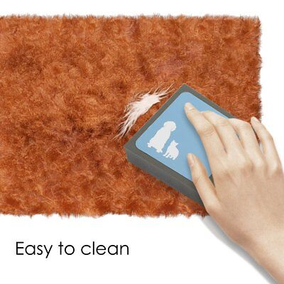 2 x Pet Dog Cat Cleaning Brush Foam Carpet Hair Fur Remover Easy Cleaner Brushes