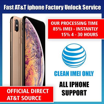 Premium FACTORY UNLOCK SERVICE AT&T CODE ATT for IPhone 5 5S 6 6s SE 7 8 X XS 11