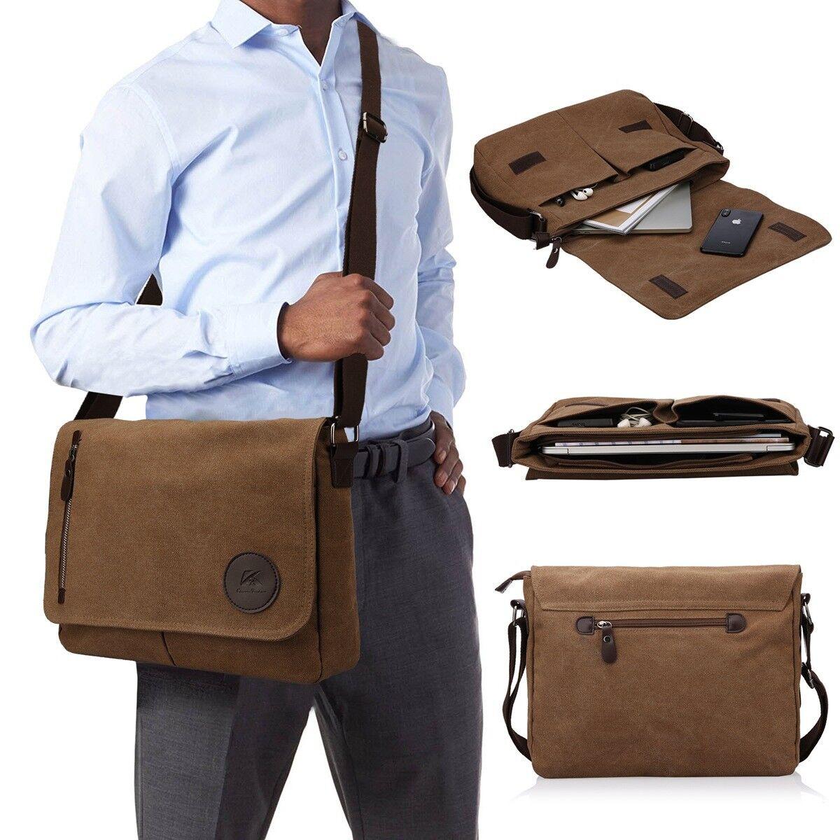 13 - 14 Inch Laptop Work Messenger Bag for Macbook Pro/HP/De