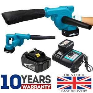 For Makita 18V Cordless Leaf Dust Blower Vacuum Air Blowing Power Tool Charger