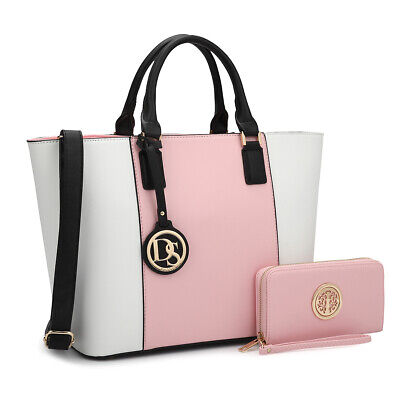 Women Stylish Handbags Large Tote Top Handle Bags with Matching Wallet