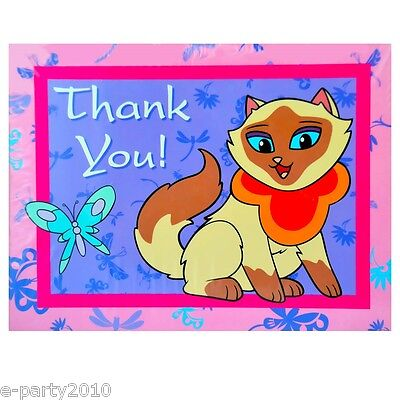 Chinese Thank You (SAGWA the CHINESE SIAMESE CAT THANK YOU NOTES (8) ~ Birthday Party Supplies)