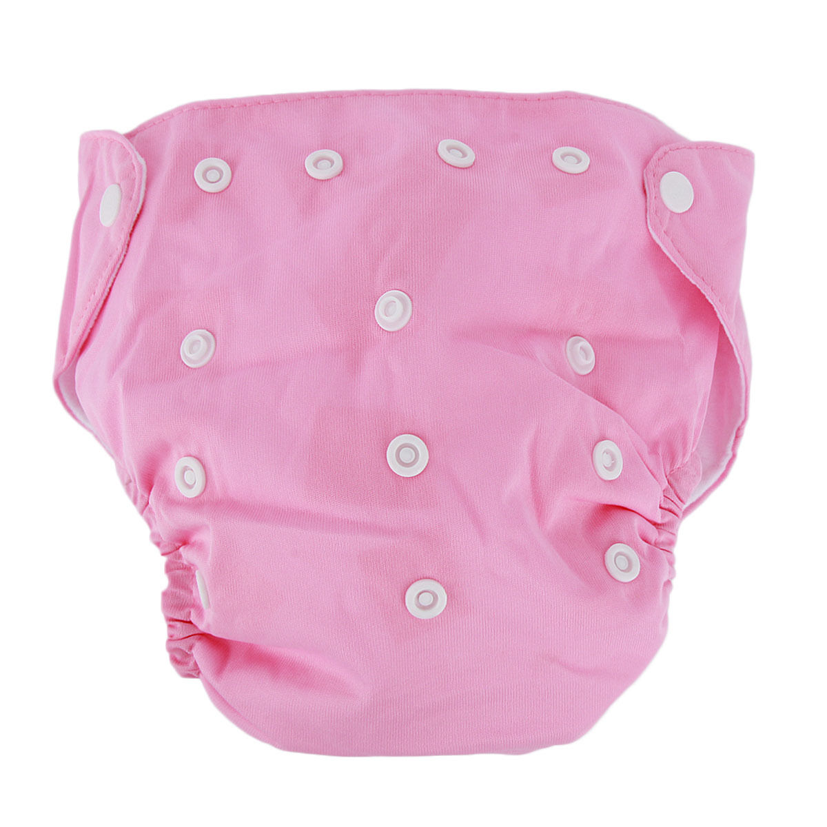 5pcs+ 5Inserts Adjustable Reusable Baby Washable Infant Nappy Soft Cloth Diapers Pink