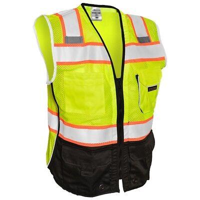 Ml Kishigo Class 2 Black Bottom Reflective Safety Vest