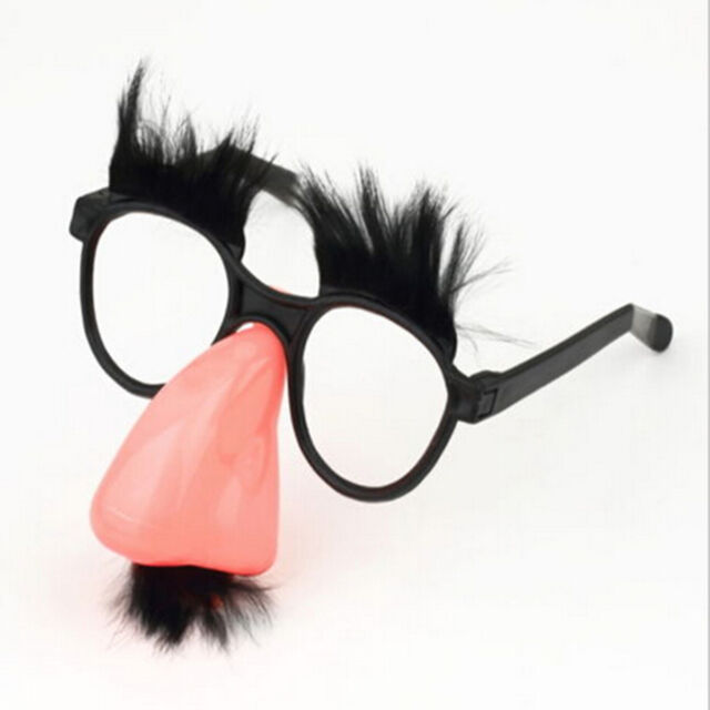 fluffy mustache big nose eyes glasses fancy dress costume party fun eye favor - Costume Props