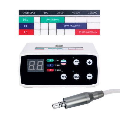 Dental Brushless Electric Motor Micromotor E-type 15 11 161 Settings Micro Ce