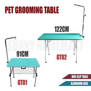 Pet Grooming Table Dog Cat Legs Arm Height Adjustable Show Stable Darra Brisbane South West Preview