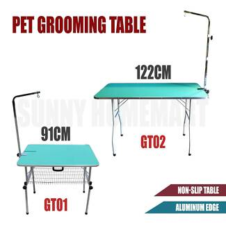 Pet Grooming Table Dog Cat Legs Arm Height Adjustable Show Stable