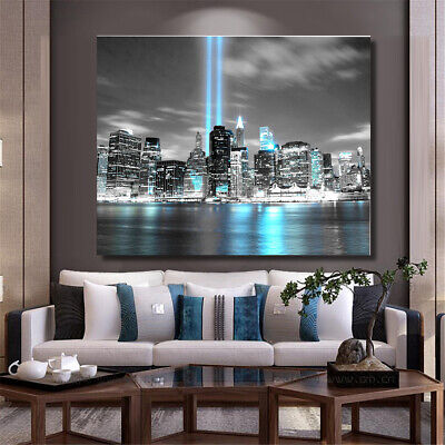 NEW YORK CITY Manhattan Skyline Canvas Print Picture Wall Art Home Room Decor