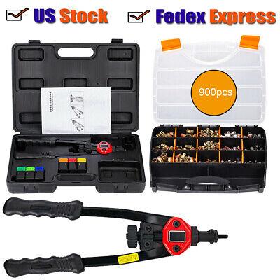 900pcs Nutsert Tool Kit M3-m10 Household Hand Tool Sets Hand Riveting Insert Us