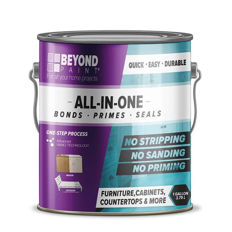 Beyond Paint BP24 Furniture and Cabinets Refinishing Paint, Gallon, Bright White