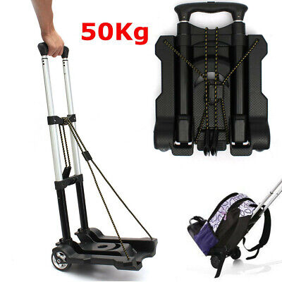 Portable Cart Folding Dolly Push Truck Hand Collapsible Trolley Luggage 120