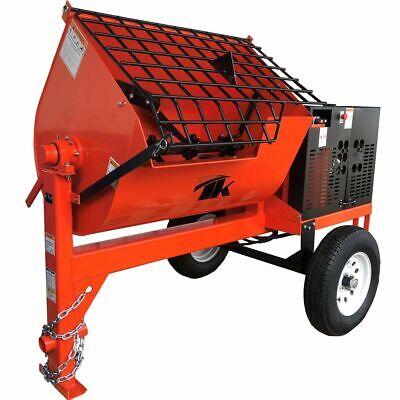 16 Cu Ft.hydraulic Towable Steel Drum Concrete Cement Mortar Plaster Mixer W 7