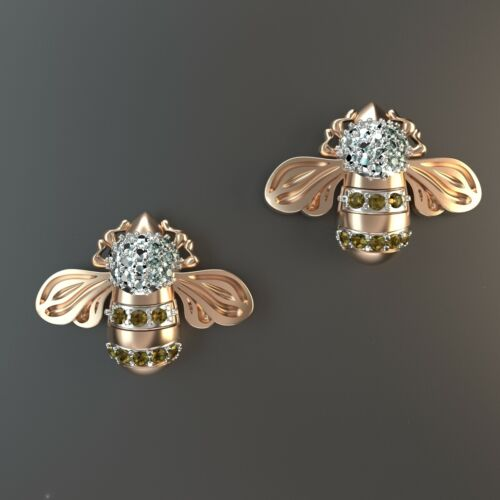2 pairs Bee Earring Wax patterns for lost wax casting jewelry/wax model_313620