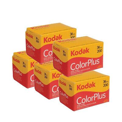 5 x Kodak ColorPlus 200 Film Pack 135 (36 Exposures)