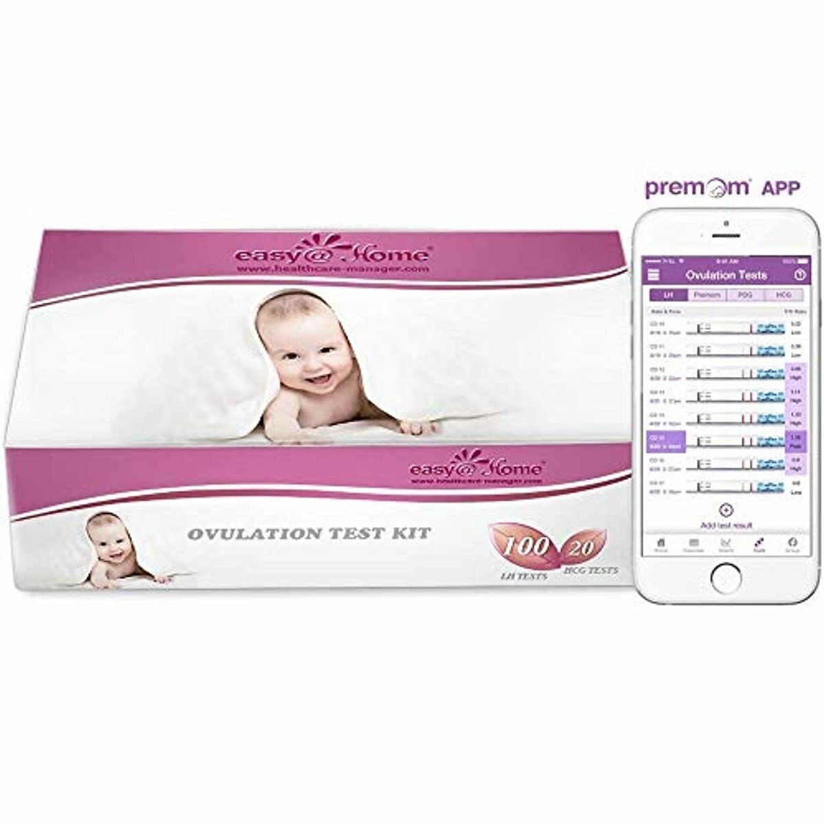 Easy@Home 100 Ovulation  and 20 Pregnancy  Test Strips Kit,