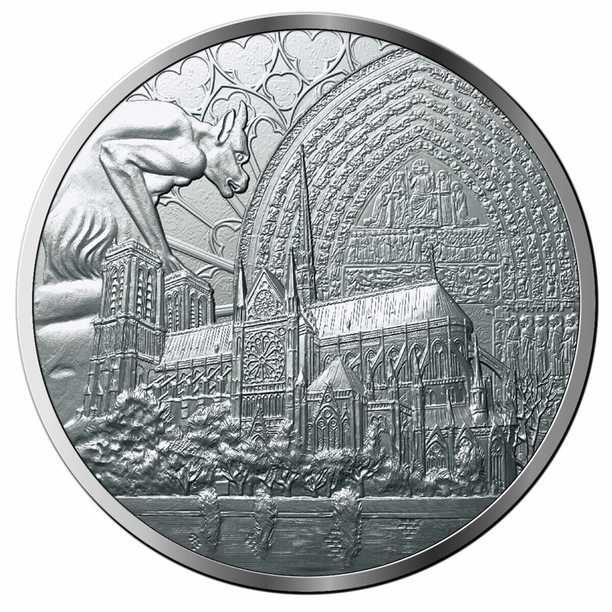 2019 Notre Dame Cathedral Reconstruction Cupronickel Medal BU SKU57980