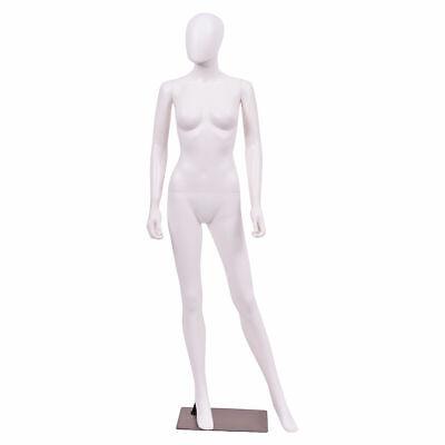 Costway 5.8 Ft Female Mannequin Egghead Plastic Full Body Dress Form Display
