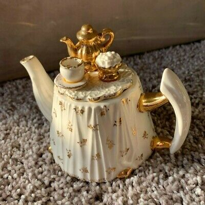 Limited Edition Cardew Design Small Victorian Table Gold Service Teapot Signed