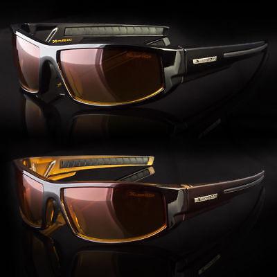 SPORT WRAP HD NIGHT DRIVING VISION HD SUNGLASSES YELLOW HIGH DEFINITION - Yellow Sunglasses