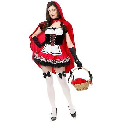 Charades Kleiner Rot Heiß Rotkäppchen Kleid Erwachsene Damen Halloween Kostüm