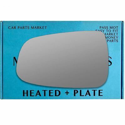 Left Passenger side wing mirror glass for Tesla Model S 2012-2020 heated plate