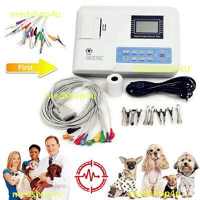 Veterinary Vet Digital 3-channel Electrocardiograph Ecgekg Machinepc Software