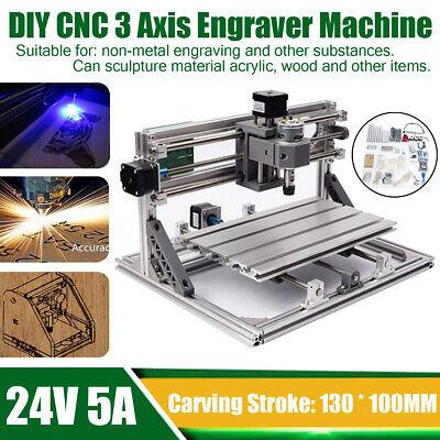 Diy Mini 3 Axis Cnc Machine Pcb Milling Wood Router Engraving Engraver Printer