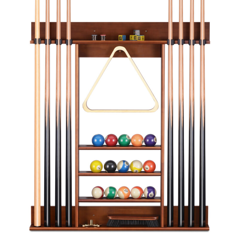 Cue Rack Only - 8 Pool Billiard Stick Clip& Ball Set Wall Rack Holder Table Game