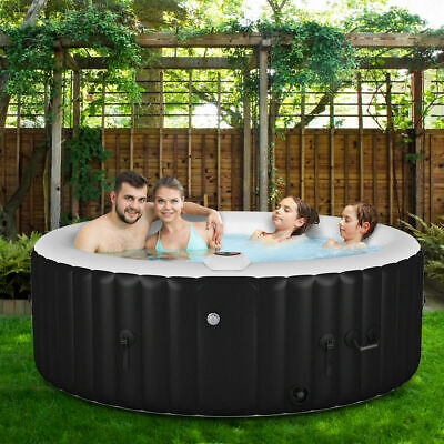 Goplus Portable Inflatable Bubble Massage Spa Hot Tub 4 Person Relaxing Outdoor Bubble Spa Hot Tub