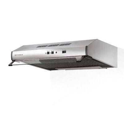 FABER cappa sottopensile 90 inox 2740 2 motori filtrante aspirante KFAB-274090