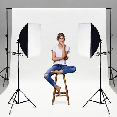 Set of 2 Lighting Softbox Stand Photography Photo Equipment Light Kit Lighting Photography Kit