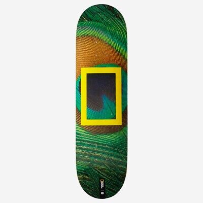 ELEMENT NATIONAL GEOGRAPHIC PEACOCK SKATEBOARD DECK 8.0