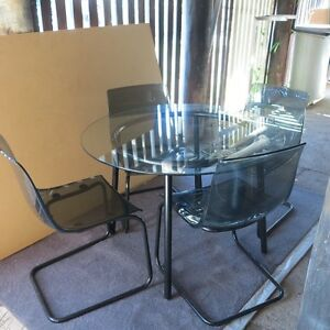 Glass top dining table and chairs Ashgrove Brisbane North West Preview