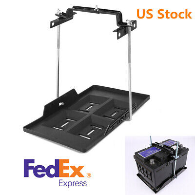 ABS Car Storage Battery Holder Hold Down Tray Adjustable Bracket 23cm Screw (Battery Tray Hold Down)