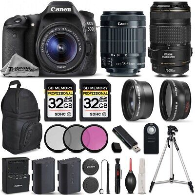 Canon EOS 80D DSLR Camera with 18-55mm IS STM Lens + Canon 70-300 USM IS LENS