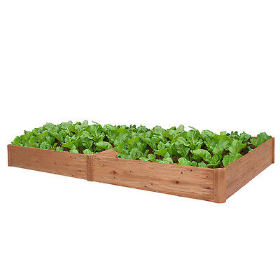 Wooden Vegetable Raised Garden Bed Patio Backyard Grow Flowers Plants Planter