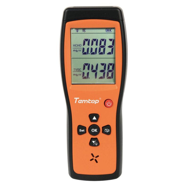 Temtop H2 Air Quality Detector Tester HCHO TVOC Monitor LCD Screen Audio Alarm