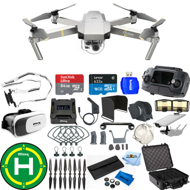 DJI Mavic Pro Platinum Edition Pro Accessory Bundle W/ Waterproof Case + More