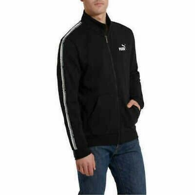NEW!!! PUMA Men's Taped Track Jacket Black Large