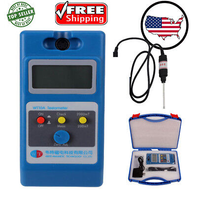 0.1mt- 2000mt Lcd Digital Tesla Meter Gaussmeter Surface Magnetic Field Tester