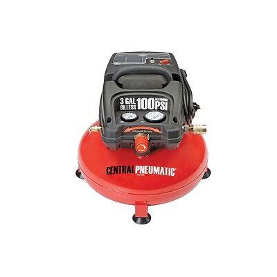 1/3 Horsepower, 3 Gallon, 100 PSI Oilless Vest-pocket Pancake Air Compressor FEDEX