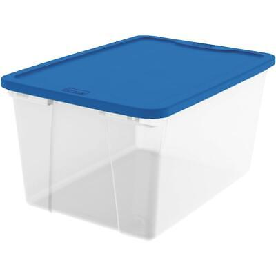 Homz 56 Qt. Clear Storage Tote 3256CLBL.08  - 1 Each