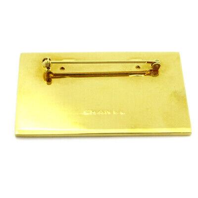 Chanel cc logos plaque motif broche corsage ton doré accessoires 35833