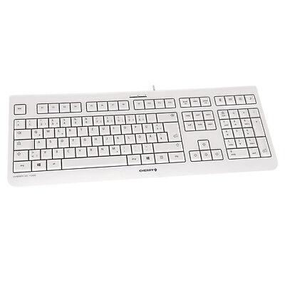 Tastatur Cherry Business KC 1000 USB weiß Keyboard flach USB German Kabel Office